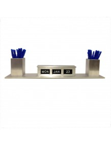 PC-SDC Double Sided Self Storing Perpetual Calendar with Pen Cups
